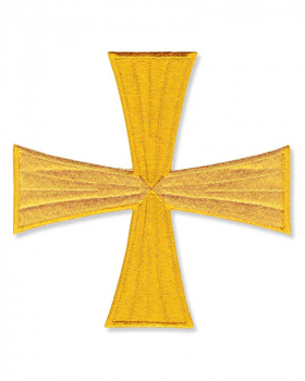 Applikationskreuz gold - gerades Kreuz 16 cm