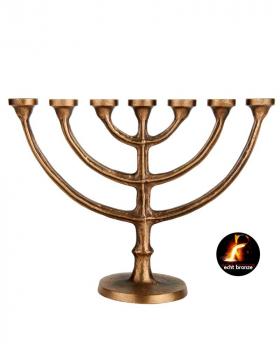Leuchter 7 armig, Messing, 29 cm hoch Kirchenbedarf
