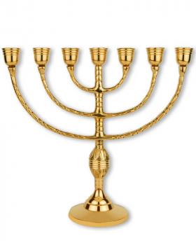 Menora Kerzenleuchter 23 cm Messing, 7 armig Kirchenbedarf